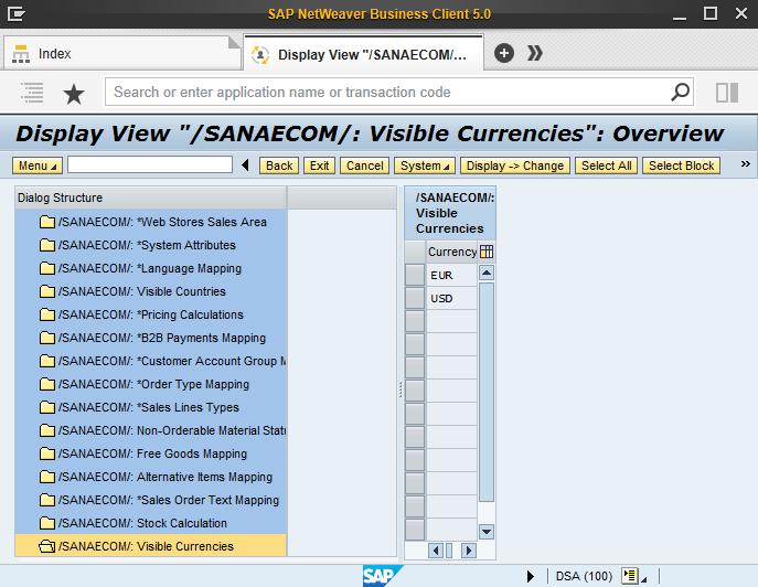 Visible Currencies