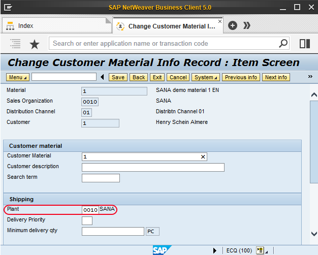 how to create supplying plant in sap