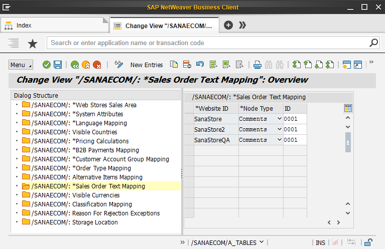 Sales Order Text Mapping