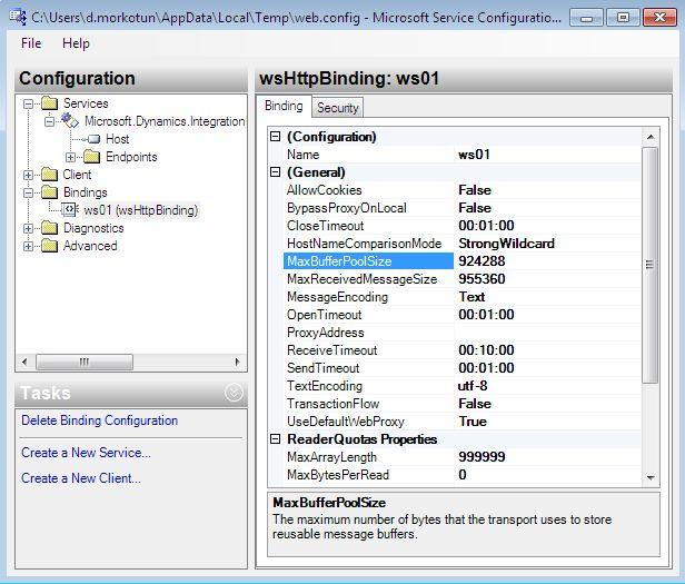 Configure The Web Service