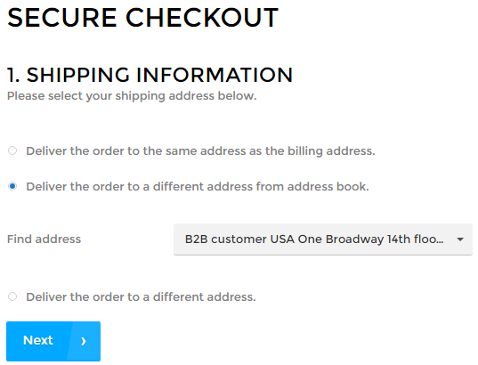Billing and Shipping Addresses