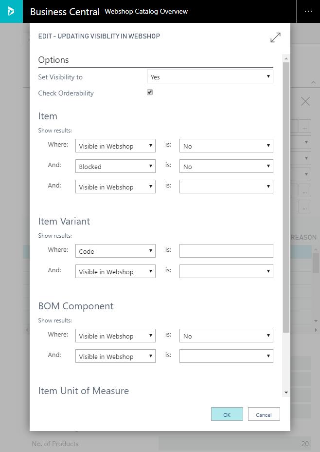 Catalog Data Visibility
