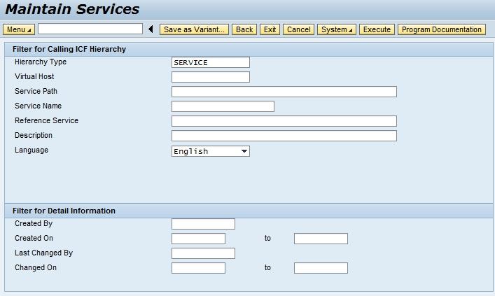Web Service Configuration (NetWeaver Gateway / ICF)