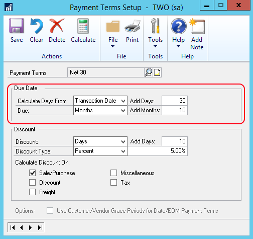 calculate invoice due date
