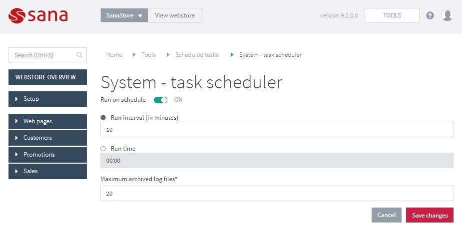set up the system task scheduler task